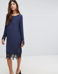 Платье с кружевной отделкой Vila - Темно-синий