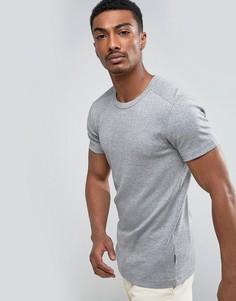Базовая обтягивающая футболка Lindbergh - Серый