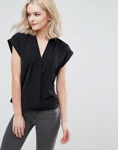 Блузка с запахом спереди Vila - Черный
