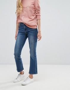 Укороченные расклешенные джинсы Vila - Темно-синий
