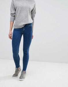 Узкие джинсы с бахромой Vila - Темно-синий