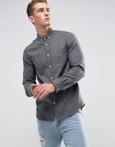 Рубашка с карманом на груди Just Junkies - Серый