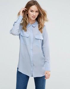 Шелковая рубашка Gestuz Vega - Синий