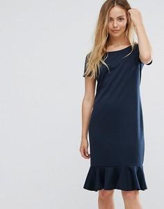 Платье с баской Vila - Темно-синий