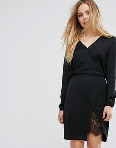 Платье с запахом Vila - Черный