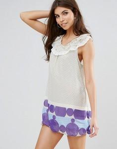 Платье-туника с принтом Jasmine - Кремовый