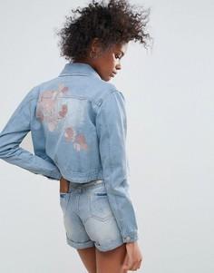 Джинсовая куртка с вышивкой Urban Bliss Macy - Синий