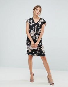 Свободное платье с цветочным принтом Uttam Boutique - Черный