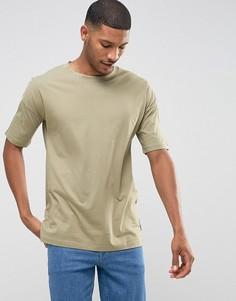 Свободная футболка Jack & Jones Core - Зеленый