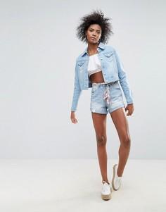 Джинсовые шорты с поясом-шарфом Urban Bliss Frankie - Синий