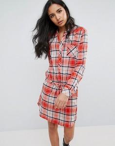 Платье-рубашка в клетку Pepe Jeans Madison - Красный