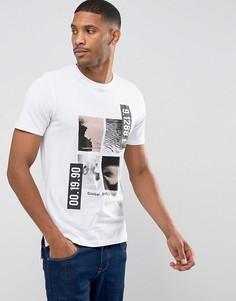 Длинная футболка с графическим принтом Jack & Jones Core - Белый
