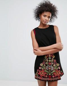 Платье с вышивкой Urban Bliss Park Lane - Черный