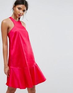 Расклешенное платье Y.A.S Studio - Розовый