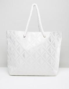 Пляжная сумка South Beach - Серебряный