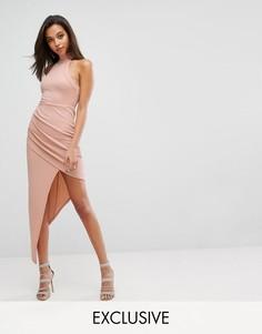 Облегающее платье с запахом Parallel Lines - Бежевый
