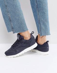 Темно-серые классические кожаные кроссовки Reebok MN - Серый