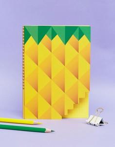 Блокнот с принтом ананас - Мульти Books