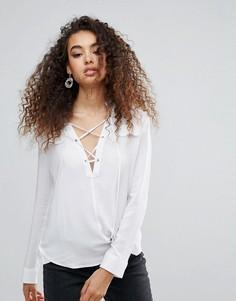 Рубашка со шнуровкой Unique 21 - Белый