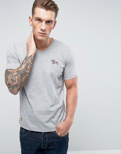 Меланжевая футболка с V-образным вырезом Tokyo Laundry - Синий