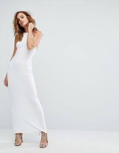 Платье-халтер макси Boohoo - Белый