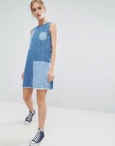 Джинсовое платье с круглым вырезом Pepe Jeans - Синий