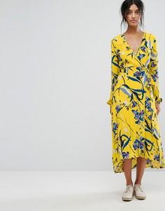 Платье с запахом Gestuz Lemon - Мульти