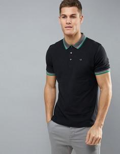 Поло с контрастным воротником Calvin Klein Golf - Черный