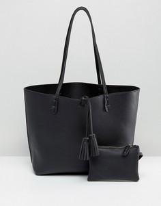 Черная сумка-тоут Street Level East West - Черный