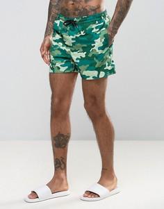 Камуфляжные шорты для плавания Jack & Jones - Зеленый