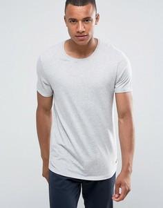 Длинная футболка с закатанными рукавами Esprit - Серый