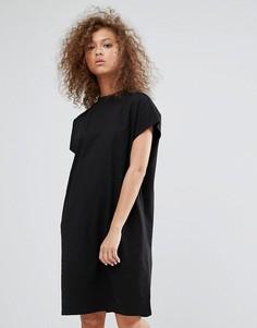 Платье с высоким воротом Weekday - Черный