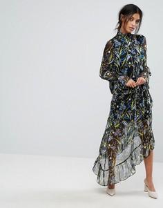 Асимметричная юбка с принтом Gestuz - Мульти