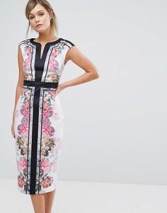 Облегающее платье с цветочным принтом Ted Baker Shawnie - Мульти