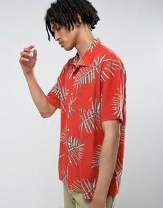 Свободная рубашка с принтом Brixton - Красный