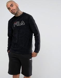 Черный махровый свитшот Fila - Черный