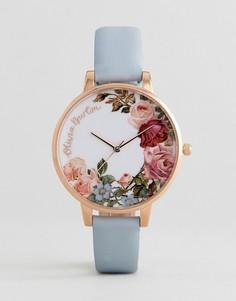 Часы с кожаным ремешком Olivia Burton OB16ER06 - Синий