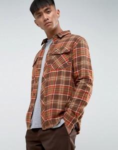 Фланелевая рубашка стандартного кроя в клетку Brixton - Коричневый