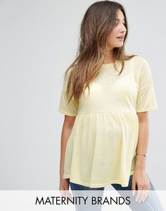 Топ с баской New Look Maternity - Желтый