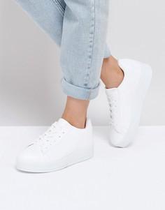 Массивные кроссовки на платформе New Look - Белый