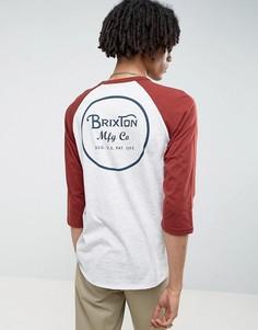 Футболка с рукавами реглан 3/4 и логотипом на спине Brixton - Серый