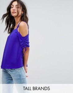 Топ с открытыми плечами New Look Tall - Фиолетовый