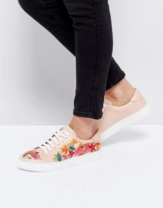 Кожаные кроссовки с цветочной отделкой Dune Eternall - Розовый