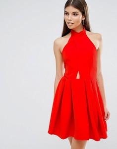 Приталенное платье для выпускного Oh My Love - Красный