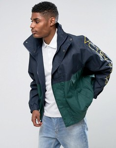 Спортивная куртка с принтом на рукавах 10.Deep Victory - Темно-синий