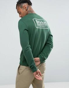 Свитшот с логотипом на спине Brixton - Зеленый