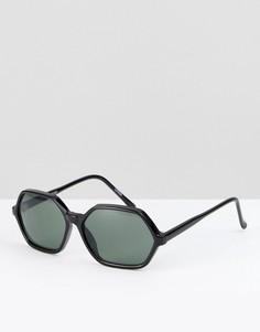 Черные солнцезащитные очки Reclaimed Vintage Inspired - Черный