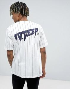 Бейсбольная футболка в полоску 10.Deep - Белый