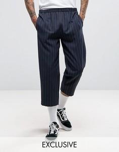 Свободные брюки в полоску Reclaimed Vintage Inspired - Темно-синий