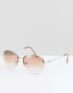 Круглые солнцезащитные очки с розовыми стеклами Reclaimed Vintage - Розовый
